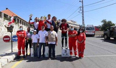 عمر زعتيتي بطل كأس لبنان لدراجات الطرق الهوائية