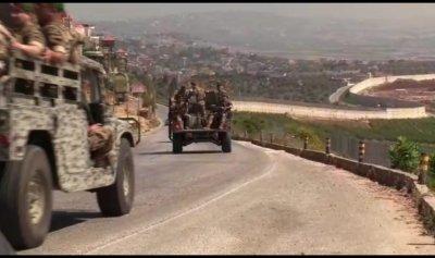 """الجيش و""""الحزب"""" يفصلان بين المتظاهرين عند الحدود"""