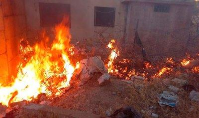 بالصور: حريق في مجدل عنجر