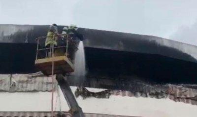 مصاب إثر حريق داخل شقة في الشهابية
