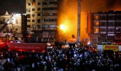 حريق بخط غاز في الجيزة المصرية