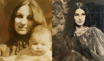 بالصورة: والدة ورد الخال ملكة جمال دمشق