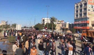 ارتفاع حدة التظاهرات وإصابات برصاص قوات الأمن العراقية