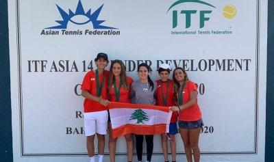 سيطرة لبنانية على القاب كرة مضرب غرب ووسط آسيا