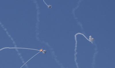 بالفيديو: معركة صاروخية في سماء غزة