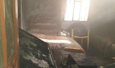 بالصورة: حريق داخل منزل في رياق