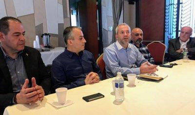حبشي يلتقي ممثلي الجالية اللبنانية في لوس انجلس