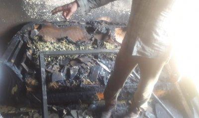 حريق منزل في عكار