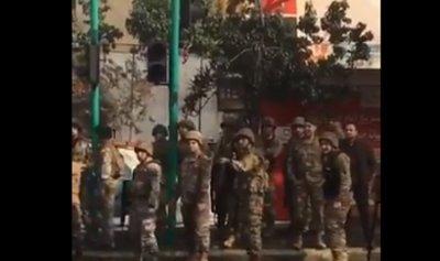 بالفيديو: الجيش يطلق الرصاص المطاطي
