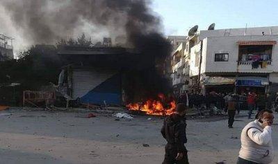 بالصور: قتيل بانفجار سيارة مفخخة في اللاذقية