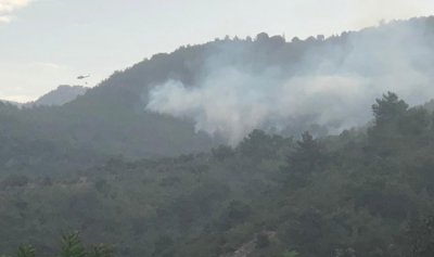 انفجار 3 الغام جراء الحريق في خراج بلدة بليدا