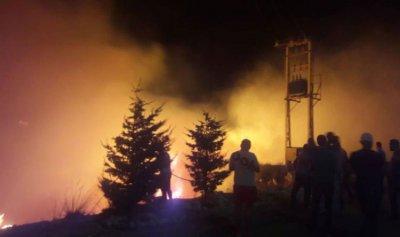 بالفيديو: اندلاع حريق في محيط جامعة البلمند