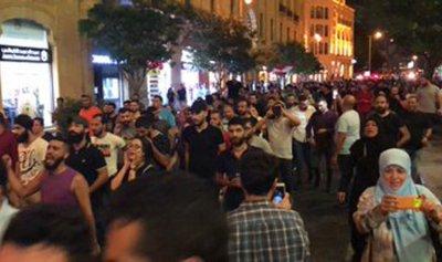بالفيديو: لحظة اطلاق النار على المتضاهرين في بيروت