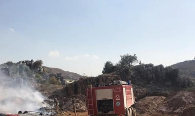 بالصور: حريق يمتد من رعشين الى وطى الجوز