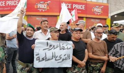 متقاعدو القوى المسلحة انضموا إلى المعتصمين في طرابلس