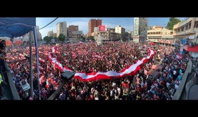 بالصورة: رفع العلم اللبناني بمئات الأمتار في طرابلس