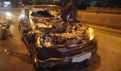 بالصورة: جريح إثر حادث سير في الحازمية