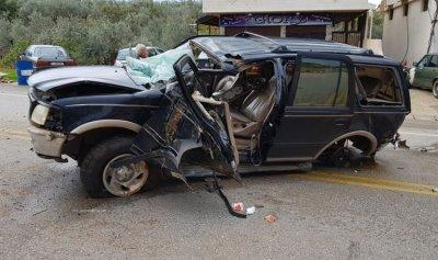 بالصورة: جريح بحادث سير في كوسبا