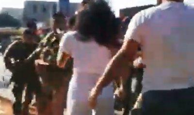 بالفيديو: اشتباك بين الجيش وبعض الاهالي في الشيفروليه