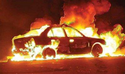 حريق سيارة في زحلة