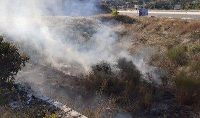 بالصور: حريق في البيسرية