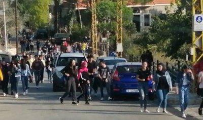 بالصورة: مسيرة للطلاب الثوار في مرجعيون