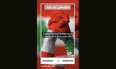 بالفيديو: اللبنانيون يتكاتفون… مبادرة ثوار جل الديب لمساعدة العائلات