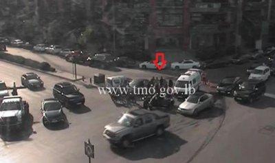 بالصورة: جريح إثر حادث سير في وسط بيروت