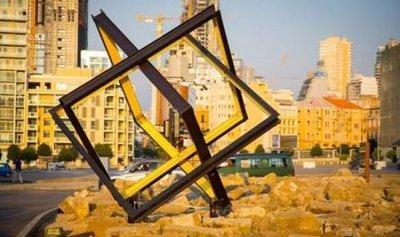 """""""ليتيسيا"""" توضح لعز القطعة الفنية في ساحة الشهداء"""