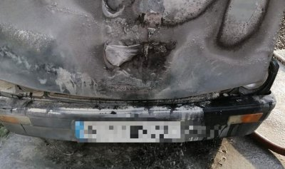 بالصور: حريق داخل سيارة في ضبية