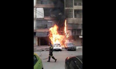 بالفيديو: حريق بمحل للألبسة في البوشرية