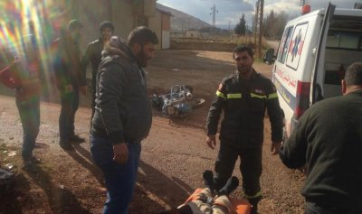 بالصورة: جريح إثر حادث صدم في مجدل عنجر
