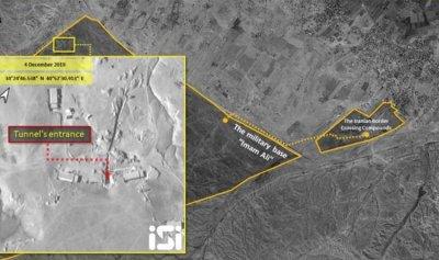 صور فضائية تكشف نفق الصواريخ الإيراني في سوريا