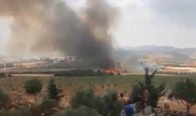 بالفيديو: حريق هائل في مرجعيون