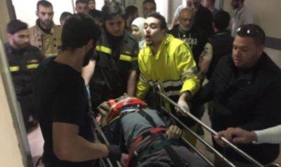 سقوط رجل داخل منور في مستشفى بيروت الحكومي