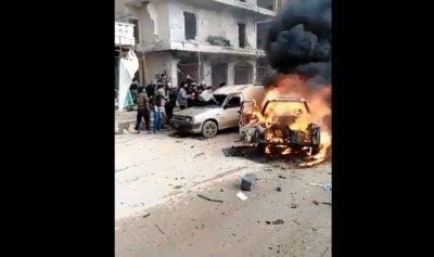 بالفيديو: قتلى وجرحى بانفجار في عفرين