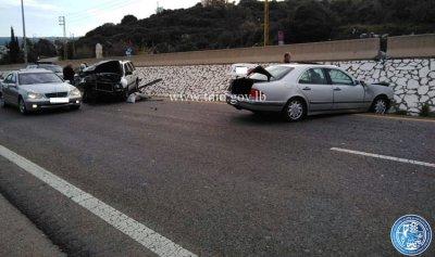 بالصورة: جريحان بحادث سير في المدفون