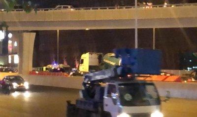 خاص بالصور: جريح بحادث سير مروع في جل الديب