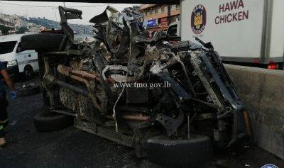 بالصور: قتيل بحادث سير في ذوق مكايل