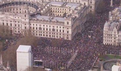 """تظاهرات بريطانيا لاستفتاء جديد حول """"بريكست"""""""