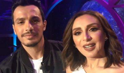 بالفيديو: أول ظهور إعلامي لأنغام مع زوجها الجديد