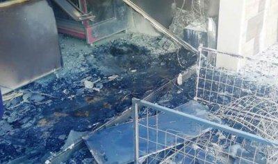 حريق داخل ميني ماركت في البابلية