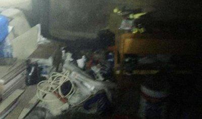 حريق في مستودع تخزين ألبسة في فاريا