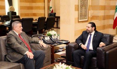 الحريري وكوبيس ناقشا مؤتمر بروكسيل