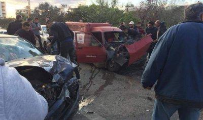 بالصور: قتيل و9 جرحى بحادث سير في زغرتا