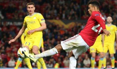 غرينوود يسجل أول أهدافه مع يونايتد
