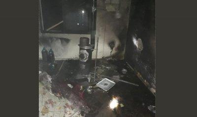 حريق داخل شقة في شحيم