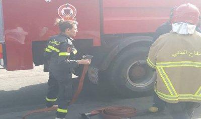 حريق داخل محل في الاوزاعي