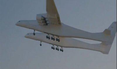 بالفيديو: أكبر طائرة تحلق للمرة الأولى