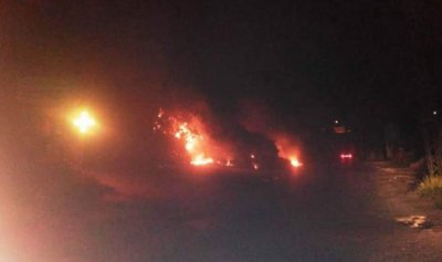 حريق نفايات وأشجار في مستيتا